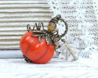 Pumpkin Pendant Thanksgiving Necklace Pumpkin Necklace Autumn Jewelry Harvest Necklace Pumpkin Gift