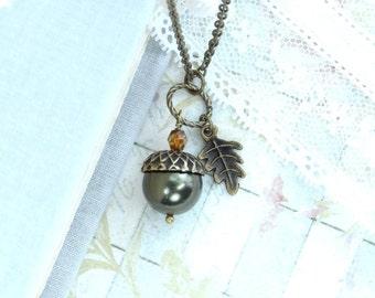 Acorn Jewelry Nature Necklace Forest Jewelry Acorn Necklace Woodland Jewelry Acorn Pendant Autumn Jewelry