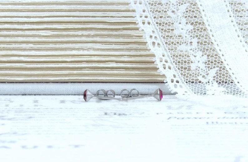 Ruby Stud Earrings July Birthstone Crystal Stud Earrings Surgical Steel Studs Tiny Stud Earrings
