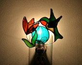 Hummingbird Stained Glass Nightlight