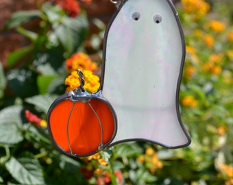 Little Boo Ghost Stained Glass Suncatcher Free US shipping