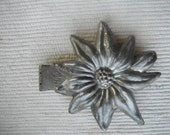 antique pewter ice cream mold poinsettia