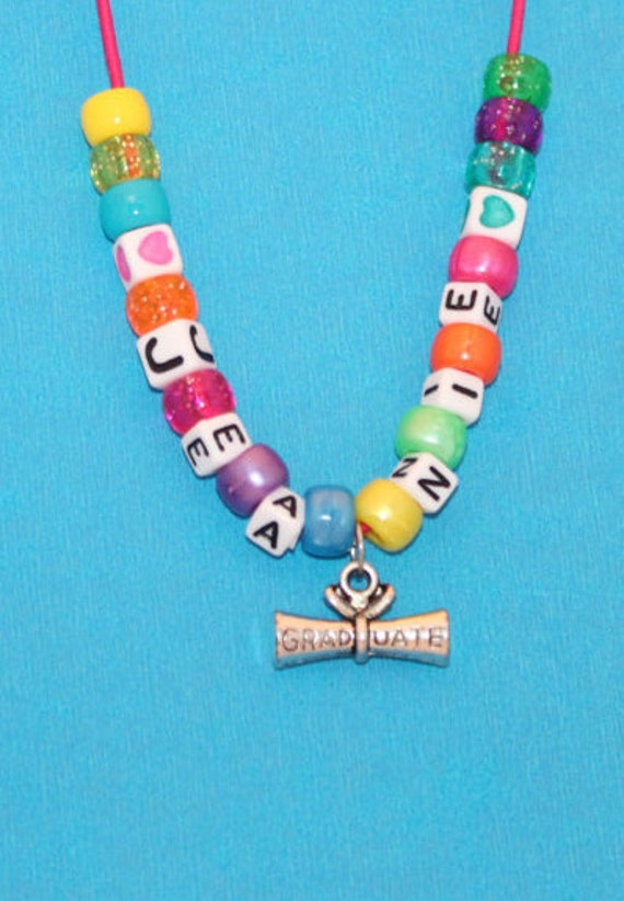 kids party favor graduation diploma personalized necklace etsy