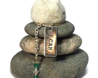 I Can Rock Cairn, Strength, Power, Heal, Centered, Intent, Transform, Zen, Inner Strength, Wisdom Mantra Breathe, Health, Namaste, Desk Gift