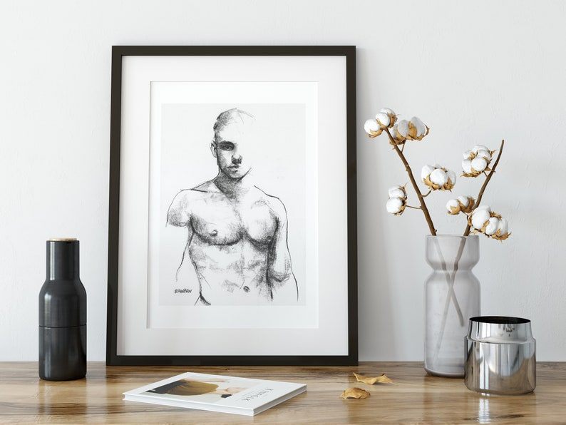 male erotic art erotic paintings pen and ink sketches pe and ink sketches gay queer artwork pen sketches nude male figure