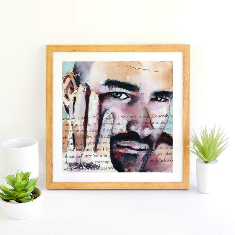 gay artwork creative couple gifts queer painting bearded man male nude erotic art men homoerotic best gift ideas for couples