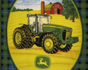 John Deer fleece throw blanket Tractor Lightweight licensed handmade
