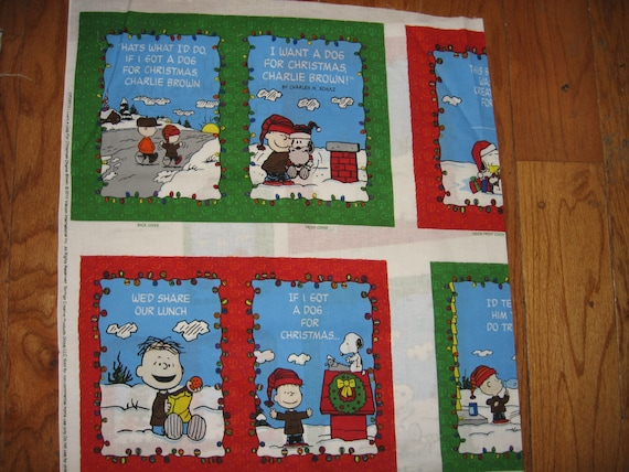 I Want A Dog For Christmas Charlie Brown.Charlie Brown Soft Book Fabric I Want A Dog For Christmas To Sew