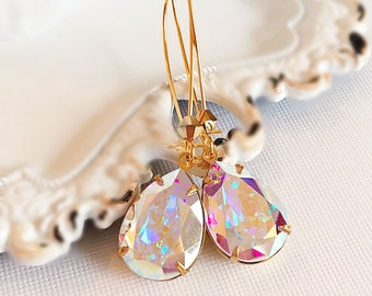 Victorian Earrings - Aurora Borealis - Jewelry Gift - Crystal Earrings - SOMERSET Aurora