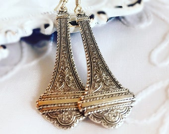 Victorian Earrings - Long Drop Earrings - Vintage Style - VICTORIANA