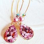 Blush Pink Earrings - Pink Stone Earrings - Bridesmaid Gifts - BELLE Pink