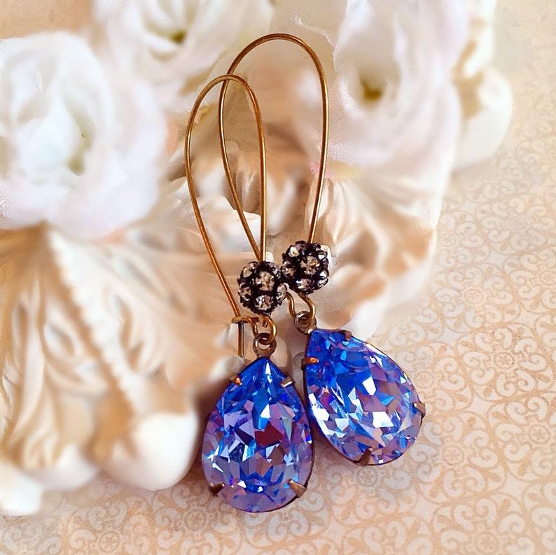 Tanzanite Earrings  Best Bridesmaid Gifts  Lavender Earrings image 0