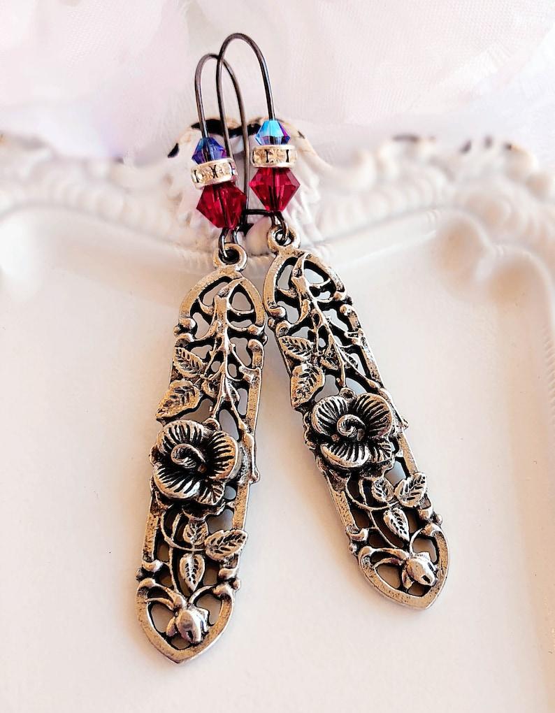 Romantic Gift for Her  Rose Earrings  La VIE en ROSE image 0
