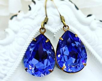 Lavender Earrings - Swarovski Earrings - CAMBRIDGE Tanzanite