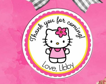 cc23a84c9 Personalized Hello Kitty Stickers, Hello Kitty Party Labels