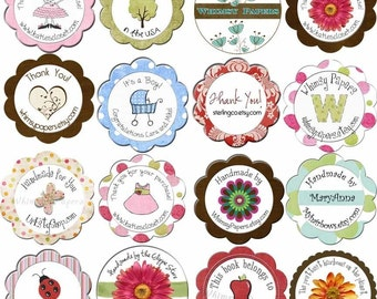1.5 Inch Circle Labels for your Etsy Shop products - great as address labels too