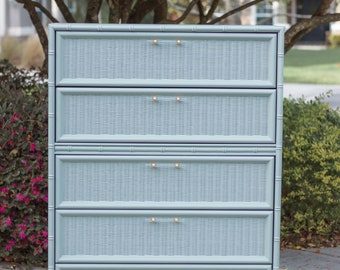 VVH Vintage Mid Century Modern Chest Of Drawers Dixie Mid Century Modern Highboy Mid Century Modern Tall Dresser With Arch Pattern Cutout