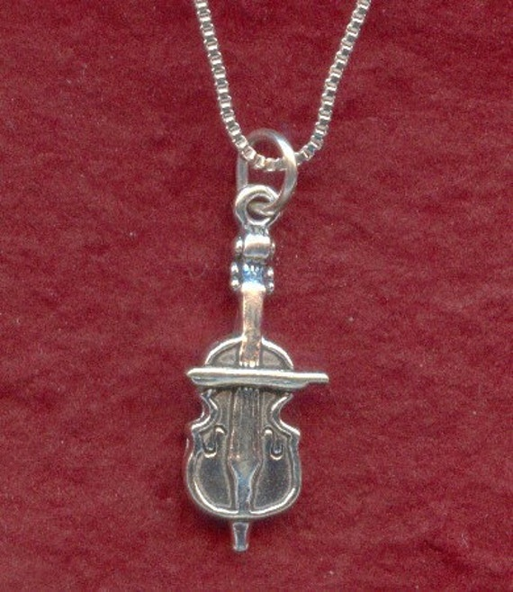 """18/"""" Italian Box Chain Charm Sterling Silver Motorcycle 3D Pendant"""