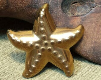 Golden Titanium Hematite Side Drilled Starfish approximately 42*7mm