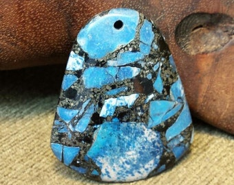 SALE #HonorSacrifice ~ Blue Turquoise  Pyrite Matrix Campanulate Bell 47x40x7mm