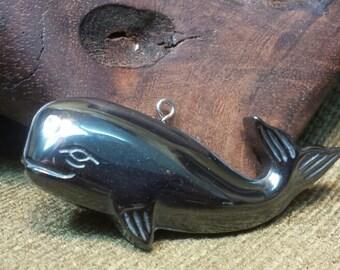 SALE #HonorSacrifice ~ Happy Hematite Sperm Whale