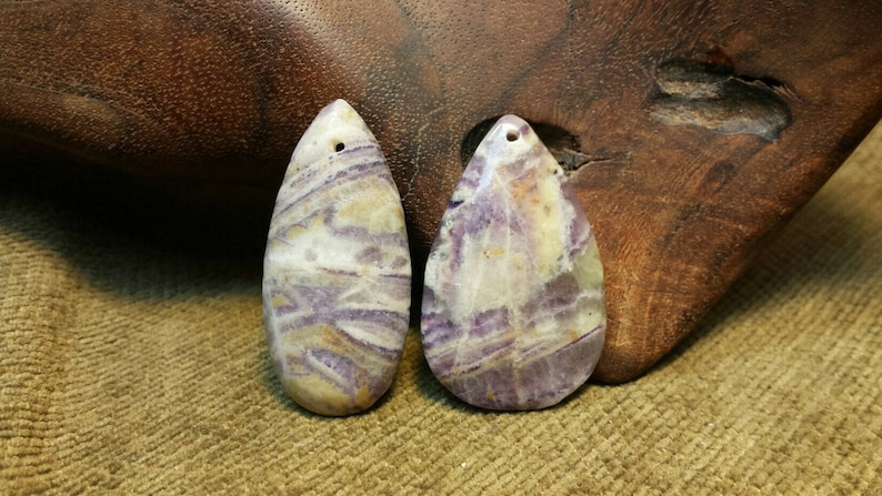 NEW  Natural Charoite Teardrop image 0