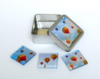 Hot Air Balloon Magnets with Gift Tin