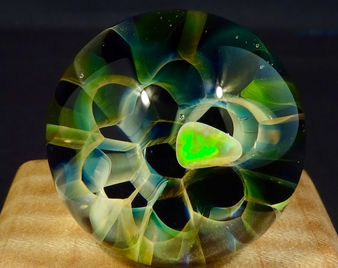 Featured listing image: Fractal Glass Marble featuring Opal
