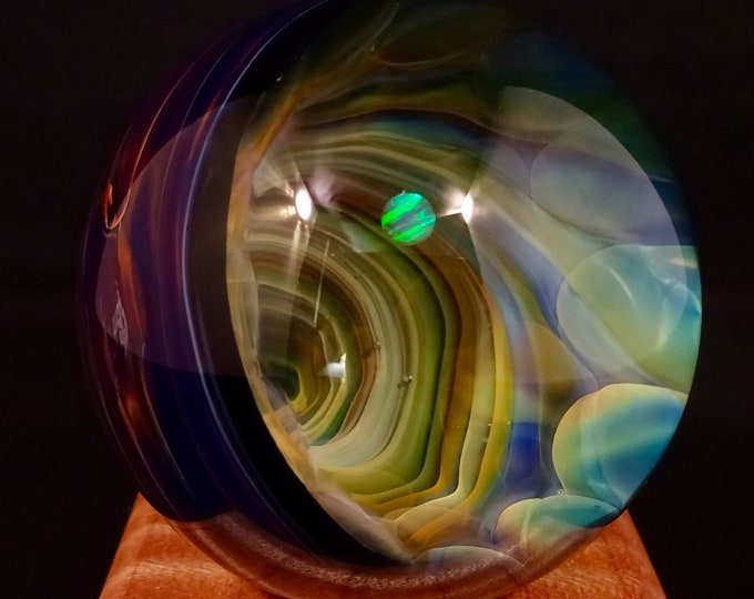 Featured listing image: Vortex Glass Marble featuring White Opal