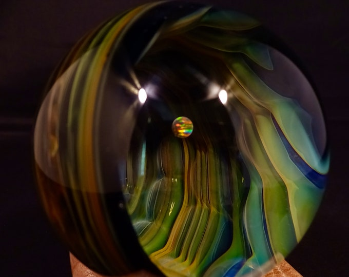 Featured listing image: Vortex Glass Marble featuring Opal