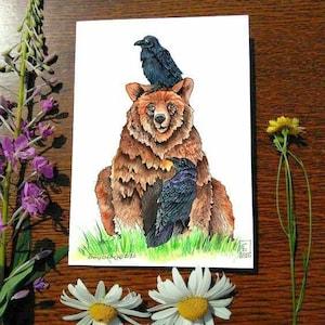 Greeting Card 5 x 7 card Denali Wildflowers Cheryl Lacy