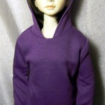 Purple hoodie sweatshirt for SD,1/3 bjd,luts DOLL
