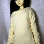 Yellow baggy sweatshirt for SD, 1/3 bjd DOLL