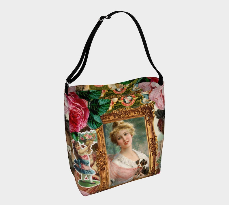 victorian collage of woman Day Tote image 0