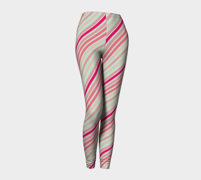 candy diagonal lines Leggings image 0