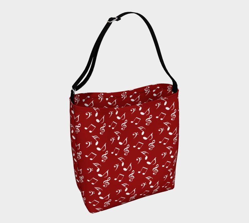 red white music Day Tote image 0