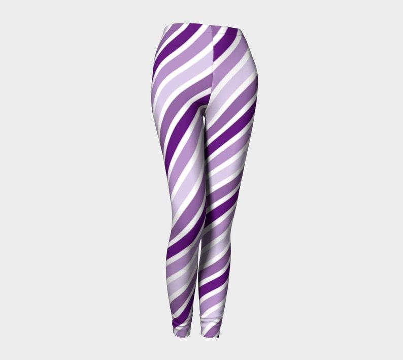 violet stripes Leggings image 0
