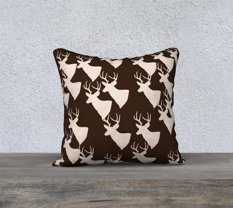 brown deer pattern 18 x 18 Pillow Case image 0