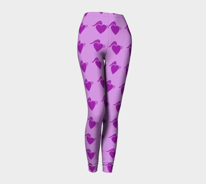 punk heart violet Leggings image 0