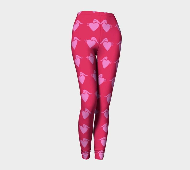 punk heart pink Leggings image 0