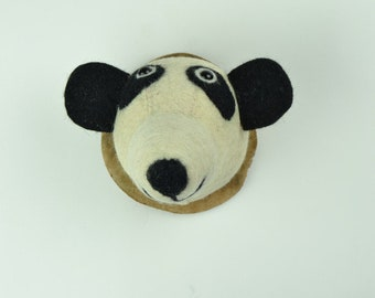 Panda Felt Animal Head Plaque