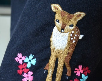 Little Fawn. Sweet Hand Embroidery Design PDF