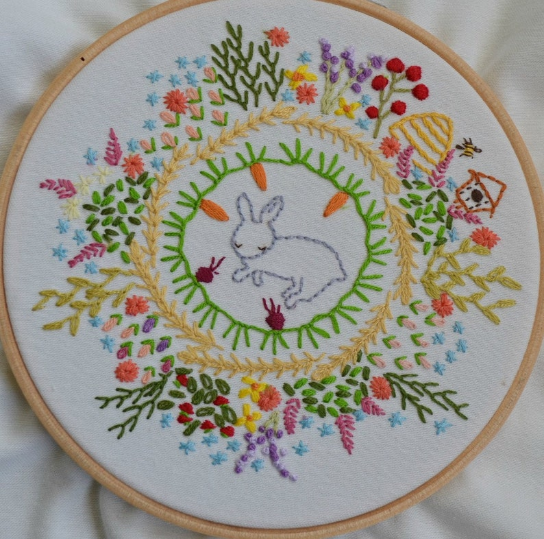 How does your garden grow Embroidery Sampler PDF pattern image 0