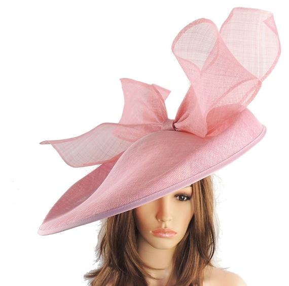 Dusky Pink Barn Owl Fascinator Hatinator Hat for Kentucky  0eebb1d4b34
