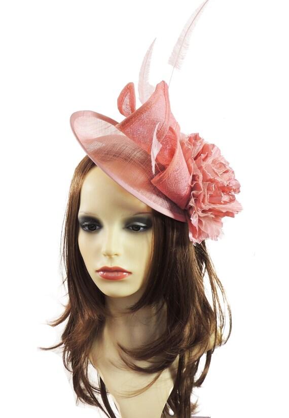 Dusky Pink Iliana Fascinator Hat for Weddings Races and  1aa1ee6160c