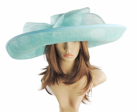 Nude Big Sinamay Hat for Kentucky Derby Ascot Garden Parties Weddings