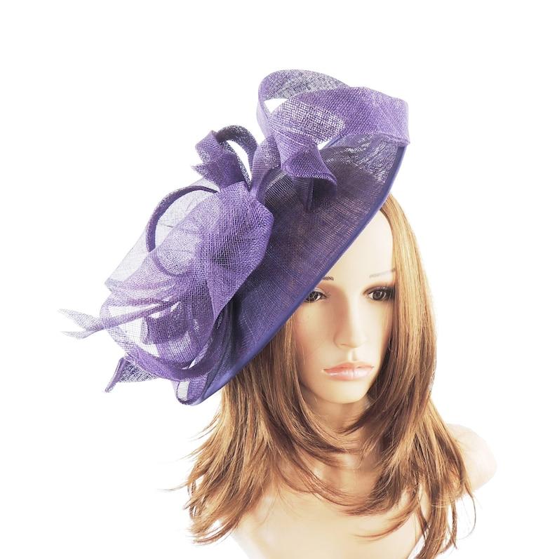 d4c13c9cd8217 Flora Dora Purple Fascinator Hat for Weddings Races and