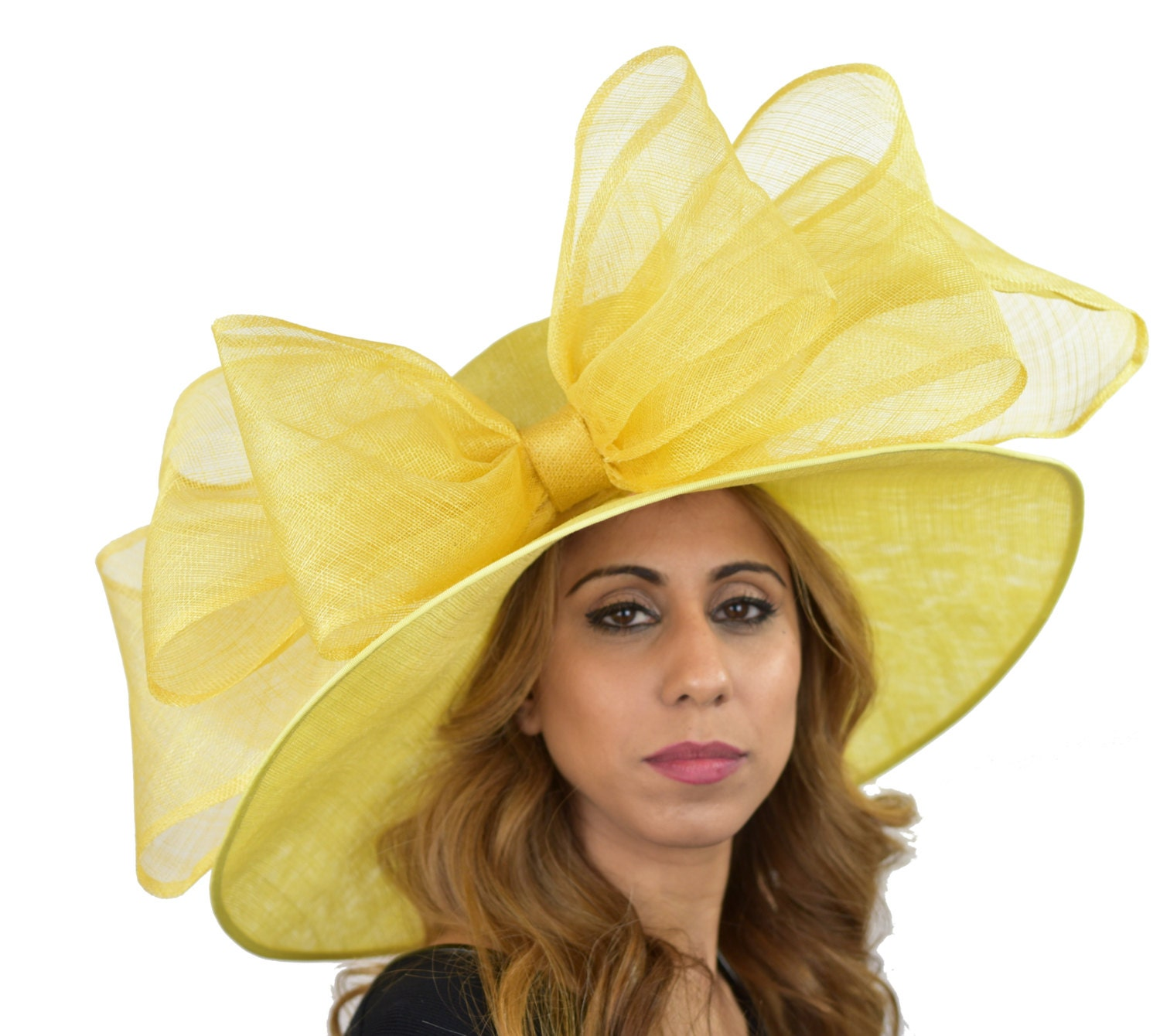 Lemon Yellow Magpie Hat For Kentucky Derby Weddings 40 Etsy