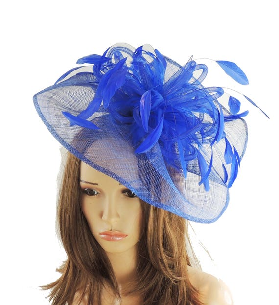 Highball Royal Blue Fascinator Hat for Weddings Races and  edfd309d811