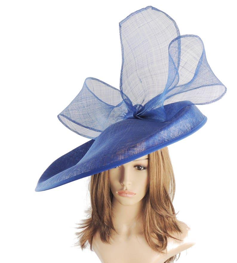 e5ad106909284 Royal Blue Barn Owl Fascinator Hatinator Hat for Kentucky | Etsy